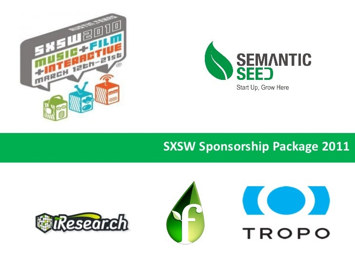 SXSW Sponsorship Package 2011