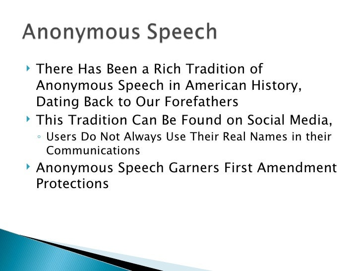 anonymous speech write anonymous email
