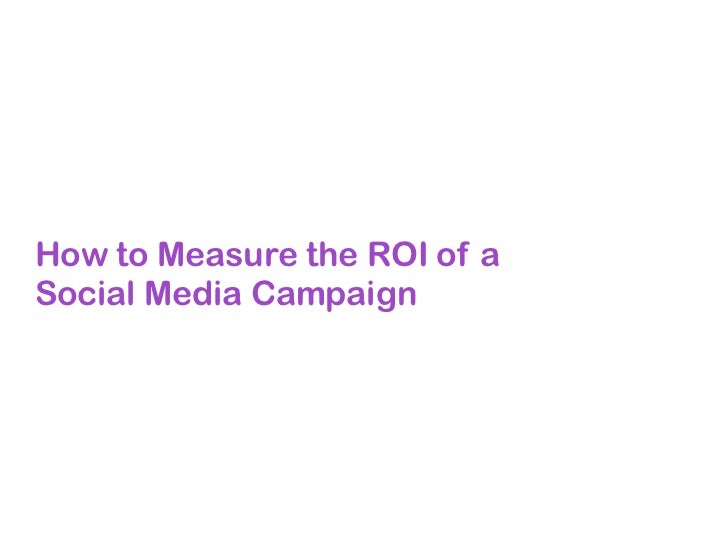 How to Measure the ROI of aSocial Media Campaign