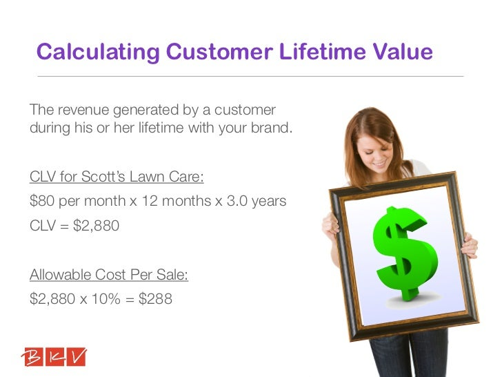 Calculating Customer Lifetime ValueThe revenue generated by a customerduring his or her lifetime with your brand.CLV for S...