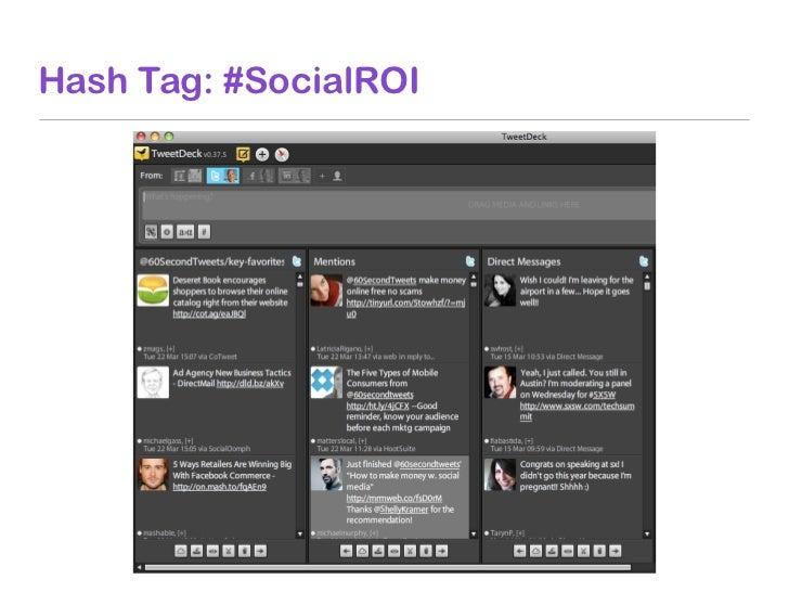 Hash Tag: #SocialROI