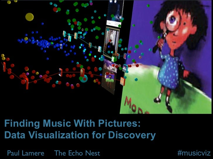 Finding Music With Pictures:Data Visualization for DiscoveryPaul Lamere   The Echo Nest        #musicviz
