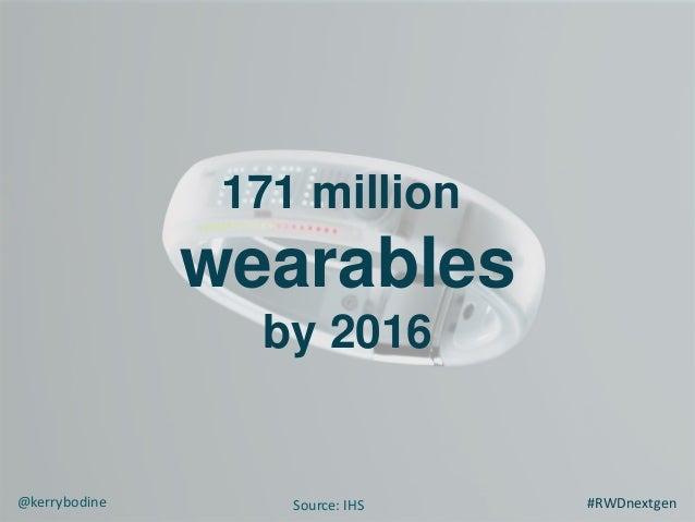 171 million wearables by 2016 #RWDnextgen@kerrybodine Source: IHS