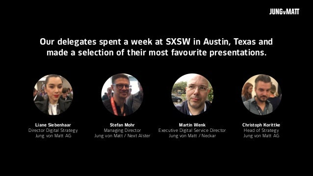 Best of SXSW 2017 - Speakers, Themes and Links Slide 2