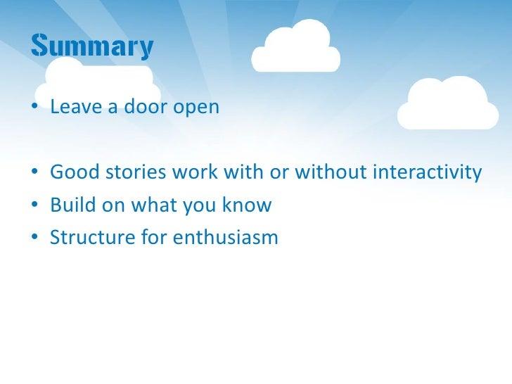 Participation for Interactive Narratives Slide 2