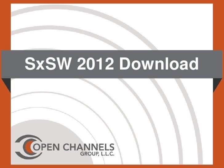SxSW 2012 Download
