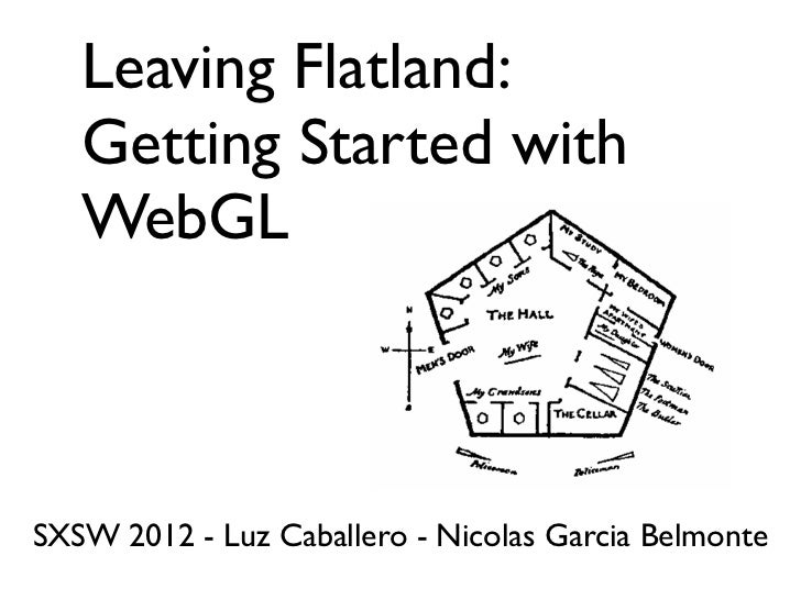 Leaving Flatland:   Getting Started with   WebGLSXSW 2012 - Luz Caballero - Nicolas Garcia Belmonte
