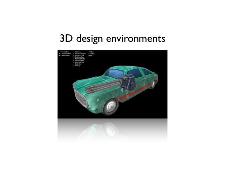 3D design environments
