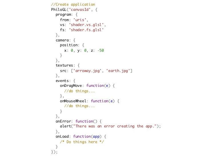 //Create applicationPhiloGL(canvasId, { program: {  from: uris,  vs: shader.vs.glsl,  fs: shader.fs.gls...