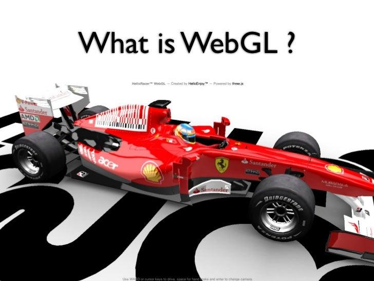 What is WebGL ?