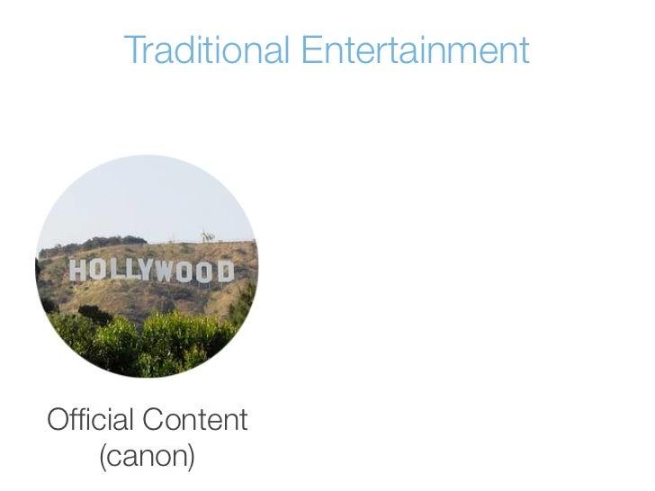 Traditional EntertainmentOfficial Content    (canon)