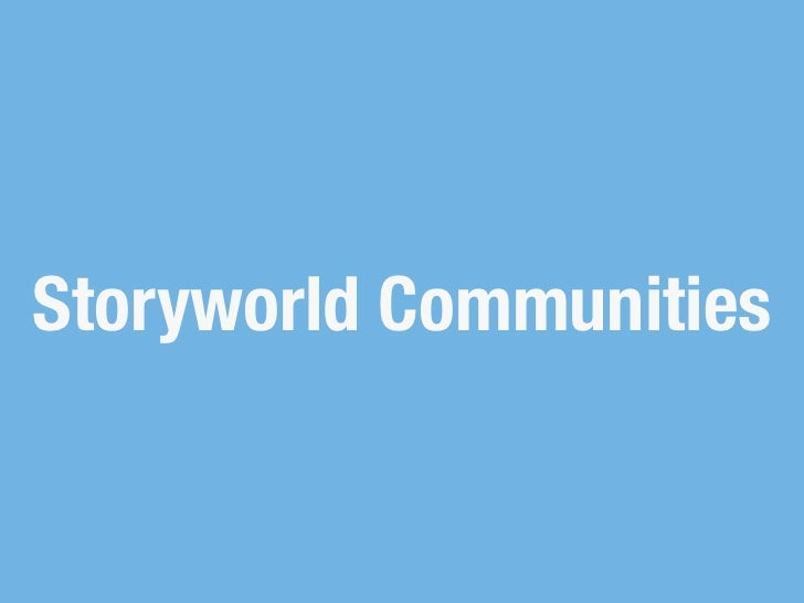 Storyworld Communities
