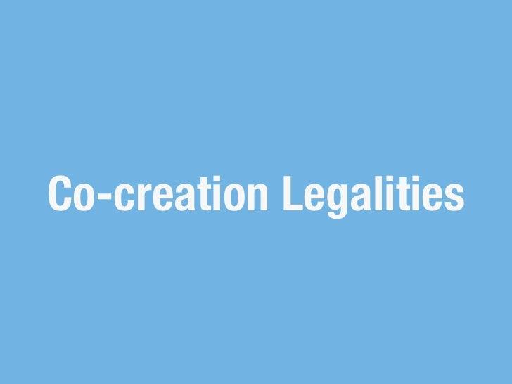 Co-creation Legalities