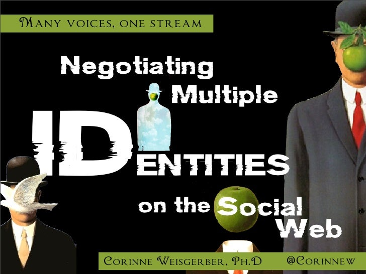 Many voices, one stream     Negotiating                    Multiple ID            ENTITIES               on the Social    ...