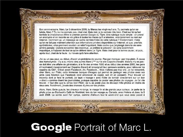 Google Portrait   of Marc L.