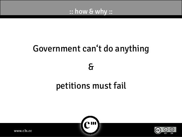 :: how & why ::             Government can't do anything                           &                  petitions must failw...