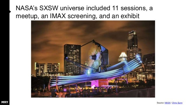 NASA's SXSW universe included 11 sessions, a meetup, an IMAX screening, and an exhibit Source: NASA / Chris Gunn
