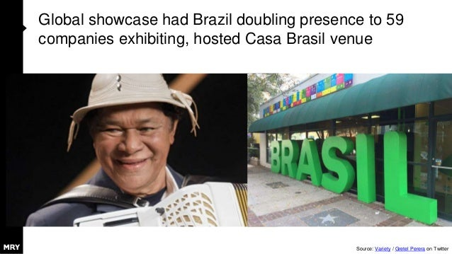 Global showcase had Brazil doubling presence to 59 companies exhibiting, hosted Casa Brasil venue Source: Variety / Gretel...