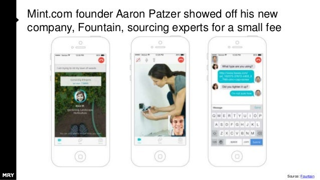 Mint.com founder Aaron Patzer showed off his new company, Fountain, sourcing experts for a small fee Source: Fountain