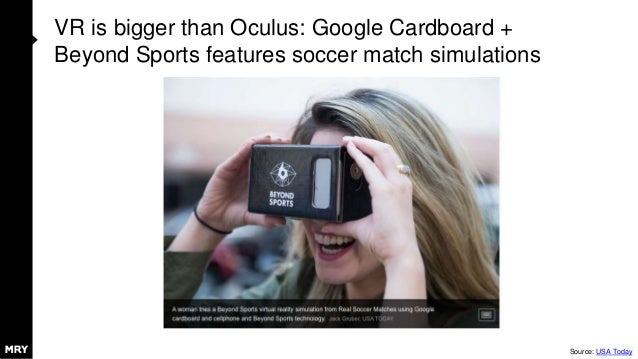 VR is bigger than Oculus: Google Cardboard + Beyond Sports features soccer match simulations Source: USA Today