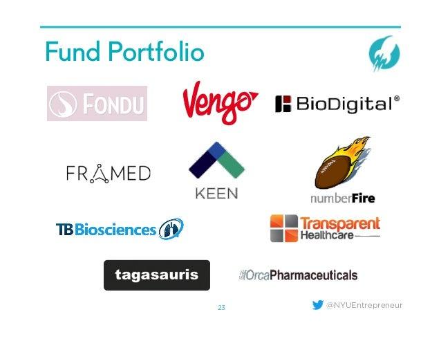@NYUEntrepreneur Fund Portfolio 23