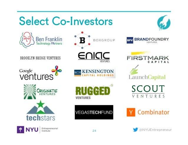 @NYUEntrepreneur Select Co-Investors 24