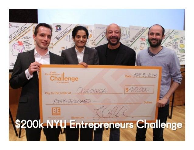 @NYUEntrepreneur36Confiden1al' $200k NYU Entrepreneurs Challenge
