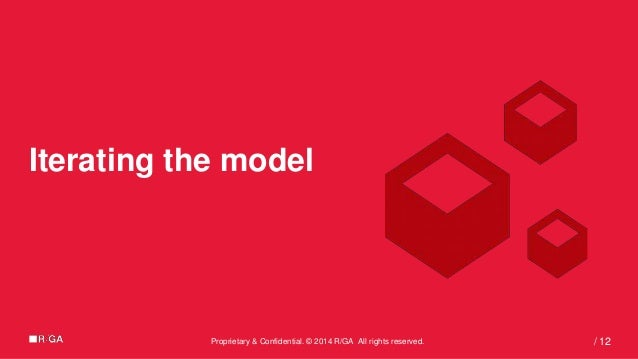 Proprietary & Confidential. © 2014 R/GA All rights reserved. 12/ Iterating the model