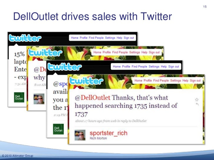 DellOutlet drives sales with Twitter<br />15<br />