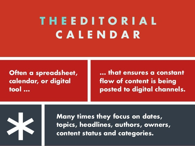 Our beef with Editorial Calendars?