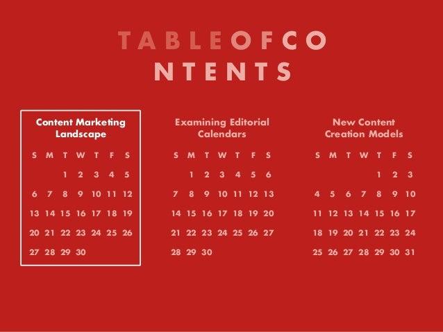Content Marketing Landscape S M T W T F S 1 2 3 4 5 6 7 8 9 10 11 12 13 14 15 16 17 18 19 20 21 22 23 24 25 26 27 28 29 30...