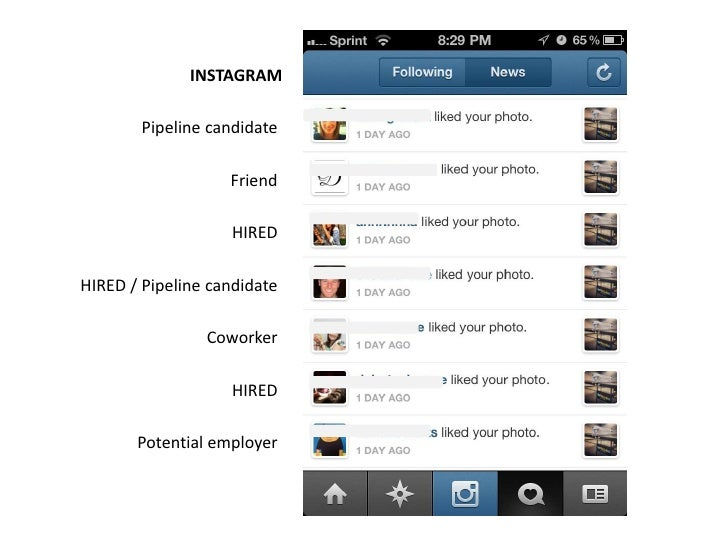 INSTAGRAM        Pipeline candidate                   Friend                   HIREDHIRED / Pipeline candidate            ...