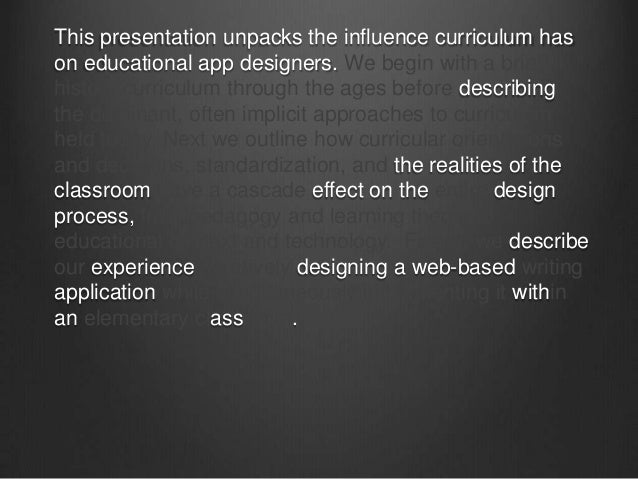 New Title:Designing for realistic use in classrooms,or:Why your educational application sucks.