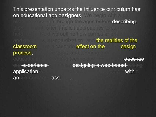 Three SeparateExperiencesAll applications for use by K12 teachers.Research(ish) approaches different for each