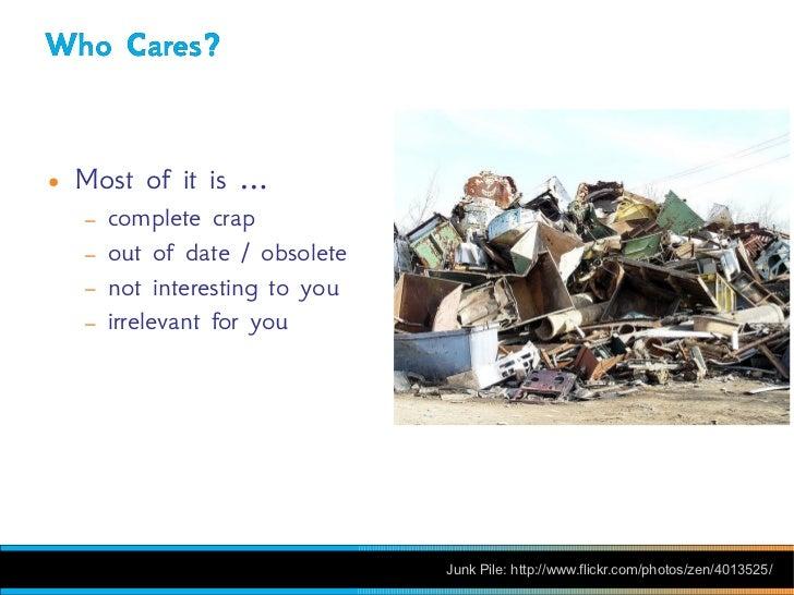 SXSW Hacking RSS: Filtering & Processing Obscene Amounts of Information Slide 3