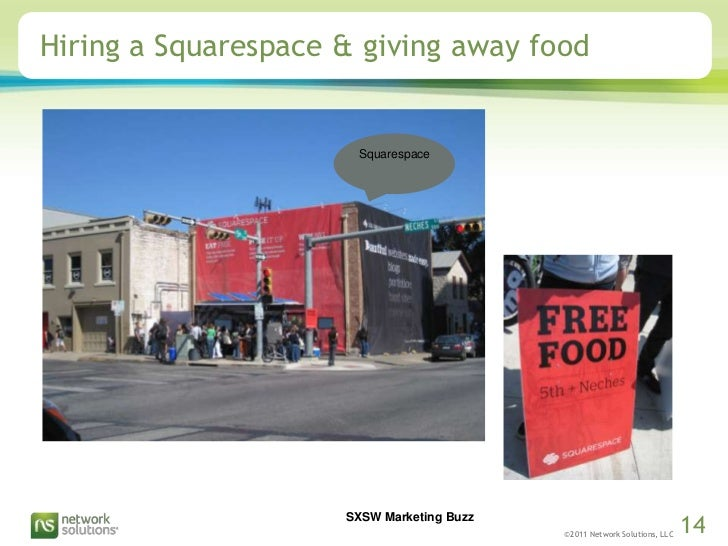 Hiring a Squarespace & giving away food<br />Squarespace<br />