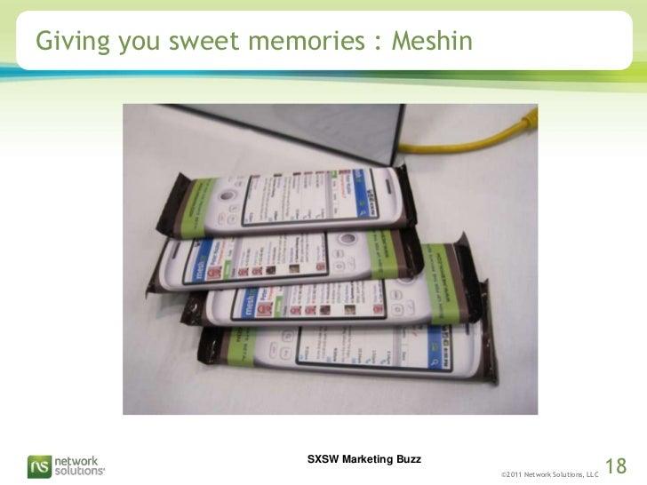 Giving you sweet memories : Meshin<br />