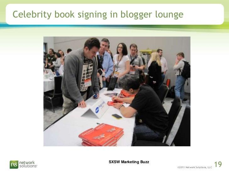 Celebrity book signing in blogger lounge<br />