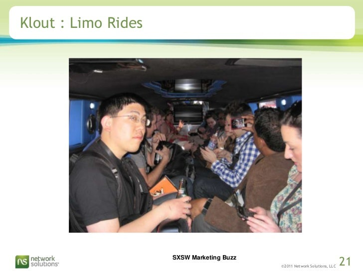 Klout : Limo Rides<br />