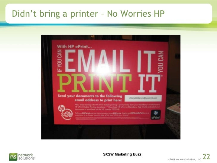 Didn't bring a printer – No Worries HP<br />