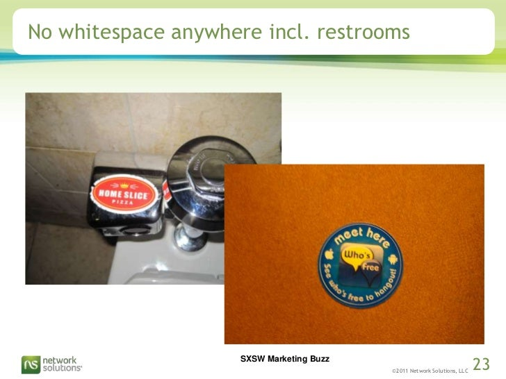 No whitespace anywhere incl. restrooms<br />