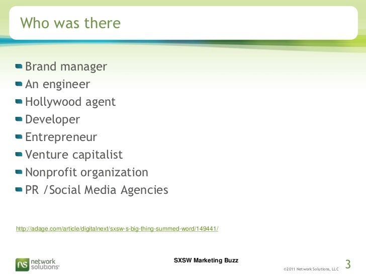Who was there<br />Brand manager <br />An engineer<br />Hollywood agent<br />Developer<br />Entrepreneur<br />Venture capi...