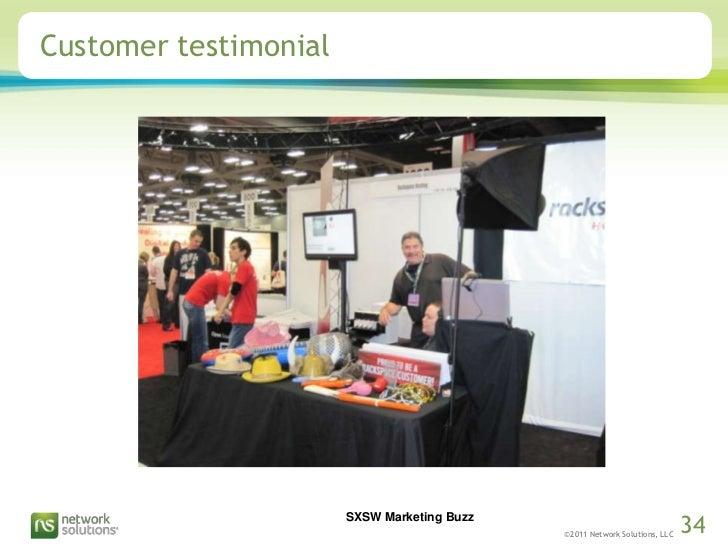 Customer testimonial<br />