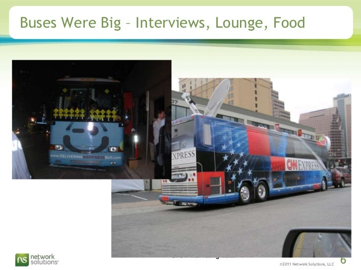 Buses Were Big – Interviews, Lounge, Food<br />