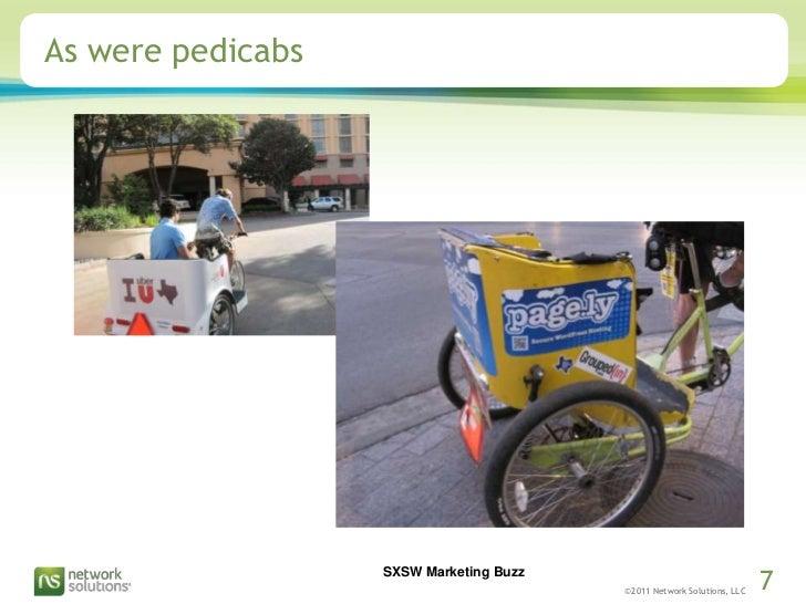 As were pedicabs<br />