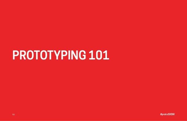 #protoSXSW12 PROTOTYPING 101