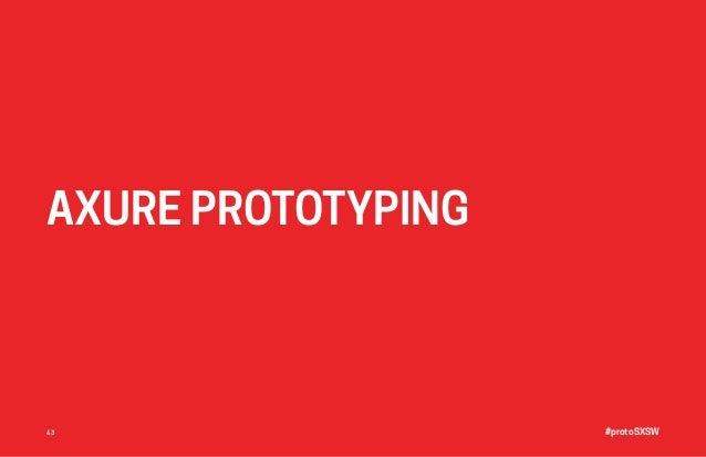 #protoSXSW43 AXURE PROTOTYPING