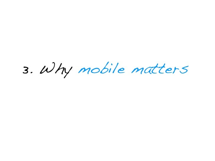 Mobile is Personal