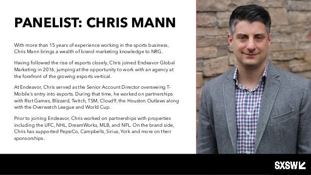 PANELIST: CHRIS MANN With more than 15 years of experience working in the sports business, Chris Mann brings a wealth of b...