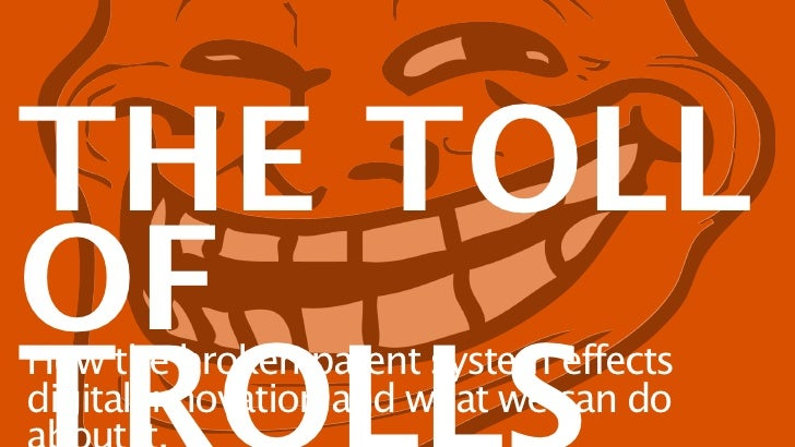 THE TOLLOFHow the broken patent system effectsdigital innovation and what we can do
